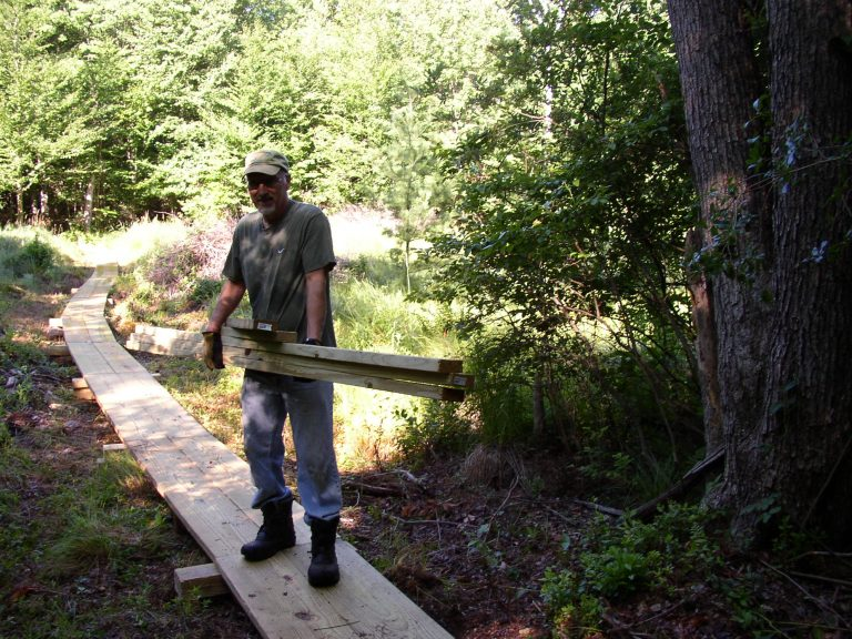 14-Board walk Hauling-wood